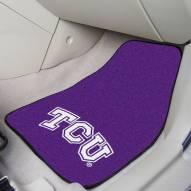 Texas Christian Horned Frogs 2-Piece Carpet Car Mats
