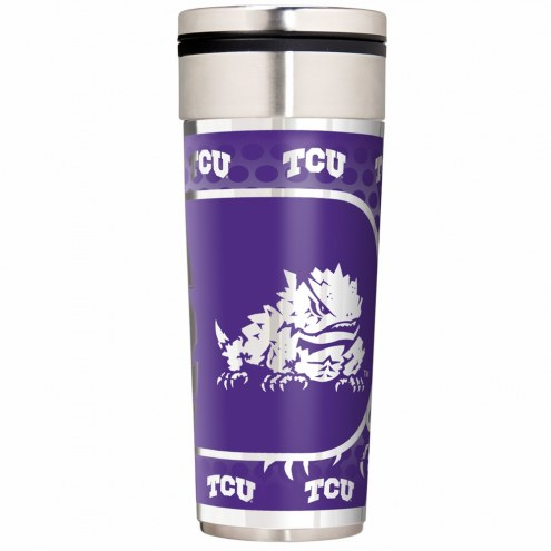 Texas Christian Horned Frogs 22 oz. Hi Def Travel Tumbler