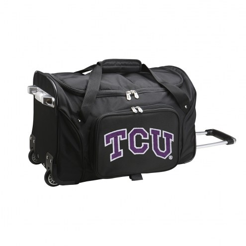 """Texas Christian Horned Frogs 22"""" Rolling Duffle Bag"""
