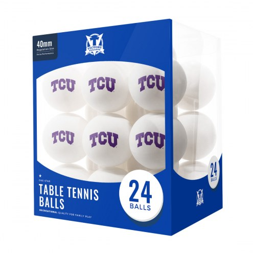 Texas Christian Horned Frogs 24 Count Ping Pong Balls