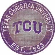 "Texas Christian Horned Frogs 24"" Heritage Logo Round Sign"