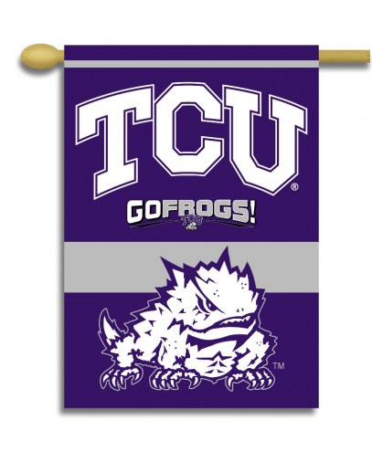 """Texas Christian Horned Frogs 28"""" x 40"""" Two-Sided Banner"""