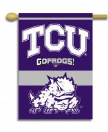 "Texas Christian Horned Frogs 28"" x 40"" Two-Sided Banner"