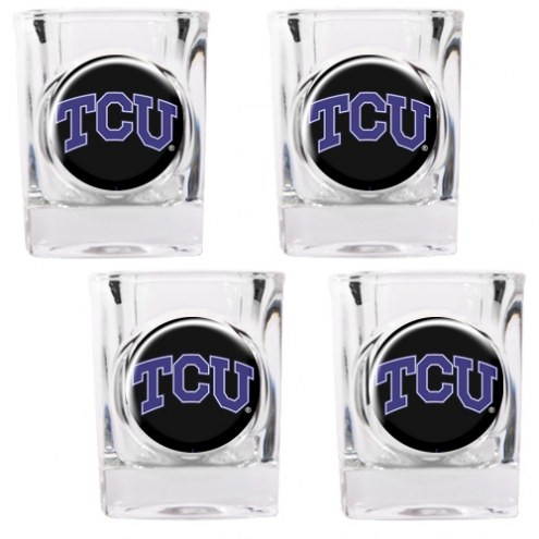 Texas Christian Horned Frogs 4 Piece Square Shot Glasses