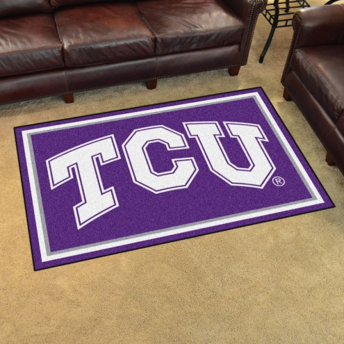 Texas Christian Horned Frogs 4' x 6' Area Rug
