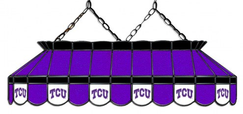 """Texas Christian Horned Frogs 40"""" Stained Glass Pool Table Light"""