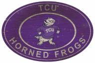 "Texas Christian Horned Frogs 46"" Heritage Logo Oval Sign"