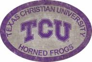 "Texas Christian Horned Frogs 46"" Team Color Oval Sign"