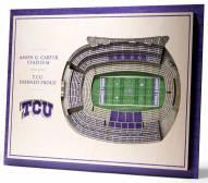 Texas Christian Horned Frogs 5-Layer StadiumViews 3D Wall Art