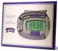 Texas Christian Horned Frogs 5-Layer StadiumViews 3D Wall Art