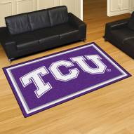 Texas Christian Horned Frogs 5' x 8' Area Rug