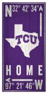 "Texas Christian Horned Frogs 6"" x 12"" Coordinates Sign"