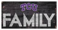 "Texas Christian Horned Frogs 6"" x 12"" Family Sign"