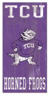 "Texas Christian Horned Frogs 6"" x 12"" Heritage Logo Sign"