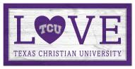"Texas Christian Horned Frogs 6"" x 12"" Love Sign"