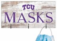 """Texas Christian Horned Frogs 6"""" x 12"""" Mask Holder"""