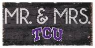 "Texas Christian Horned Frogs 6"" x 12"" Mr. & Mrs. Sign"