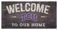 "Texas Christian Horned Frogs 6"" x 12"" Welcome Sign"