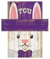 "Texas Christian Horned Frogs 6"" x 5"" Easter Bunny Head"