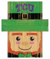 "Texas Christian Horned Frogs 6"" x 5"" Leprechaun Head"