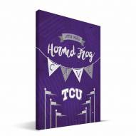 "Texas Christian Horned Frogs 8"" x 12"" Little Man Canvas Print"