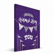 "Texas Christian Horned Frogs 8"" x 12"" Little Man Canvas Print"