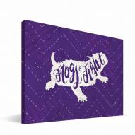 """Texas Christian Horned Frogs 8"""" x 12"""" Mascot Canvas Print"""