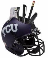 Texas Christian Horned Frogs Alternate 2 Schutt Football Helmet Desk Caddy