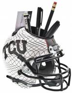 Texas Christian Horned Frogs Alternate 3 Schutt Football Helmet Desk Caddy