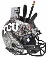 Texas Christian Horned Frogs Alternate 4 Schutt Football Helmet Desk Caddy