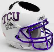 Texas Christian Horned Frogs Alternate 6 Schutt Football Helmet Desk Caddy