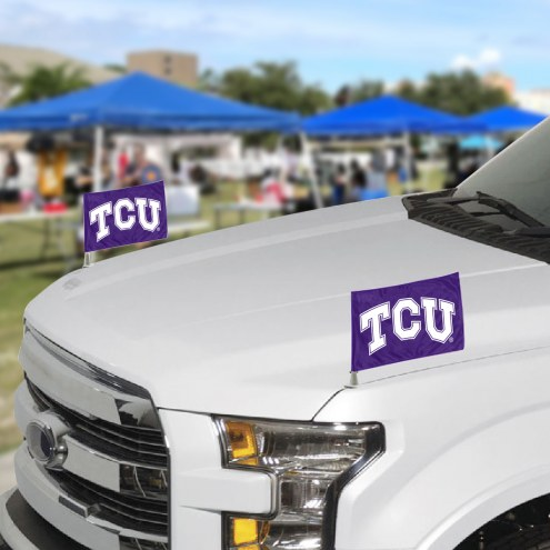 Texas Christian Horned Frogs Ambassador Car Flags
