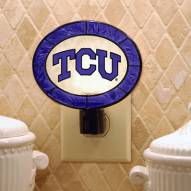 Texas Christian Horned Frogs Art Glass Night Light
