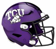 Texas Christian Horned Frogs Authentic Helmet Cutout Sign