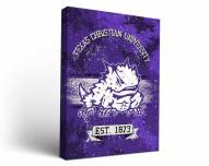 Texas Christian Horned Frogs Banner Canvas Wall Art