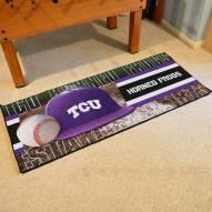 Texas Christian Horned Frogs Baseball Runner Rug