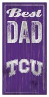 Texas Christian Horned Frogs Best Dad Sign