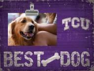 Texas Christian Horned Frogs Best Dog Clip Frame