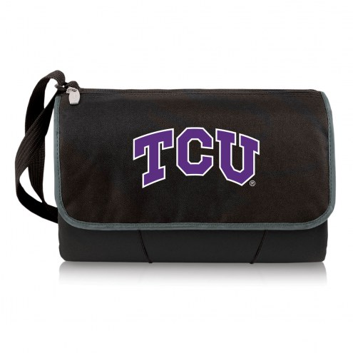 Texas Christian Horned Frogs Black Blanket Tote