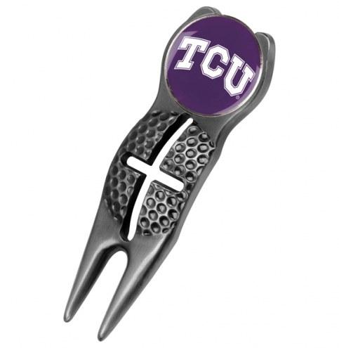 Texas Christian Horned Frogs Black Crosshairs Divot Tool