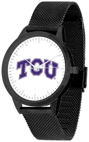 Texas Christian Horned Frogs Black Mesh Statement Watch