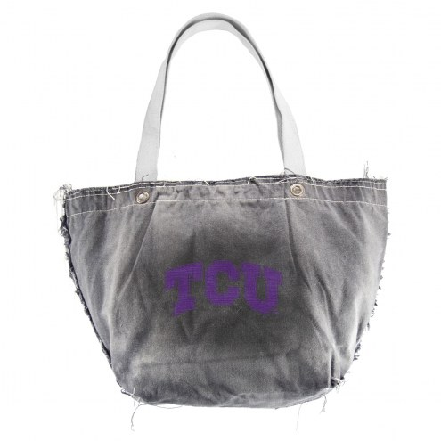 Texas Christian Horned Frogs Black NCAA Vintage Tote Bag