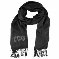 Texas Christian Horned Frogs Black Pashi Fan Scarf