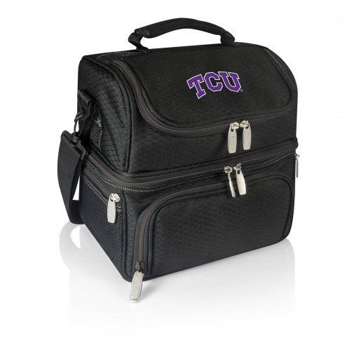 Texas Christian Horned Frogs Black Pranzo Insulated Lunch Box