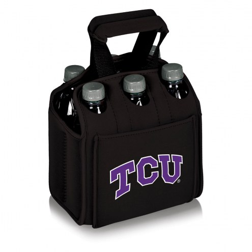Texas Christian Horned Frogs Black Six Pack Cooler Tote