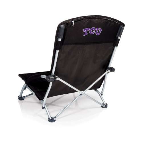 Texas Christian Horned Frogs Black Tranquility Beach Chair