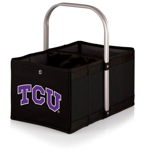 Texas Christian Horned Frogs Black Urban Picnic Basket