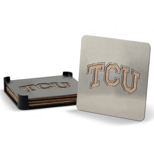 Texas Christian Horned Frogs Boasters Stainless Steel Coasters - Set of 4