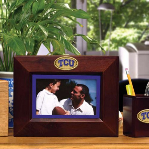 Texas Christian Horned Frogs Brown Landscape Picture Frame