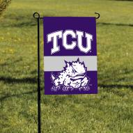 Texas Christian Horned Frogs Garden Flag